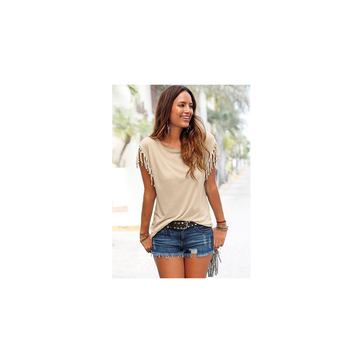 Trendiges T-shirt Casual Style ärmellos Woman