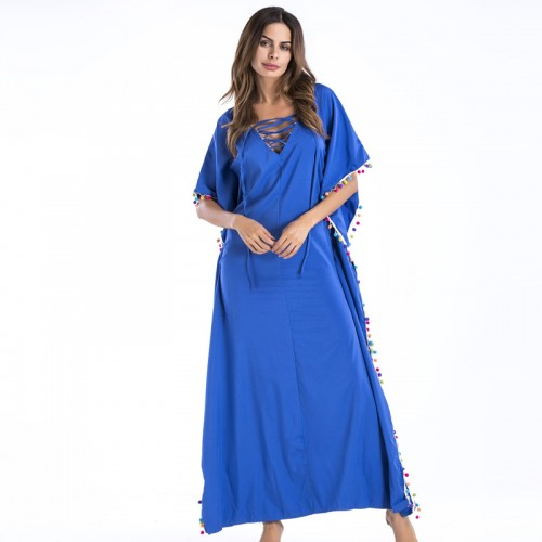 Kleid Bali-Style Maxi Party Dresses Woman
